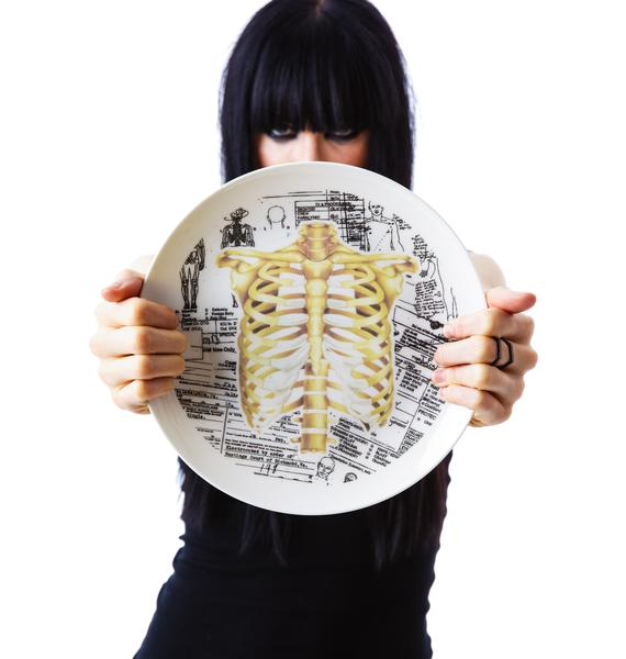 Sourpuss Clothing Ribcage Plate
