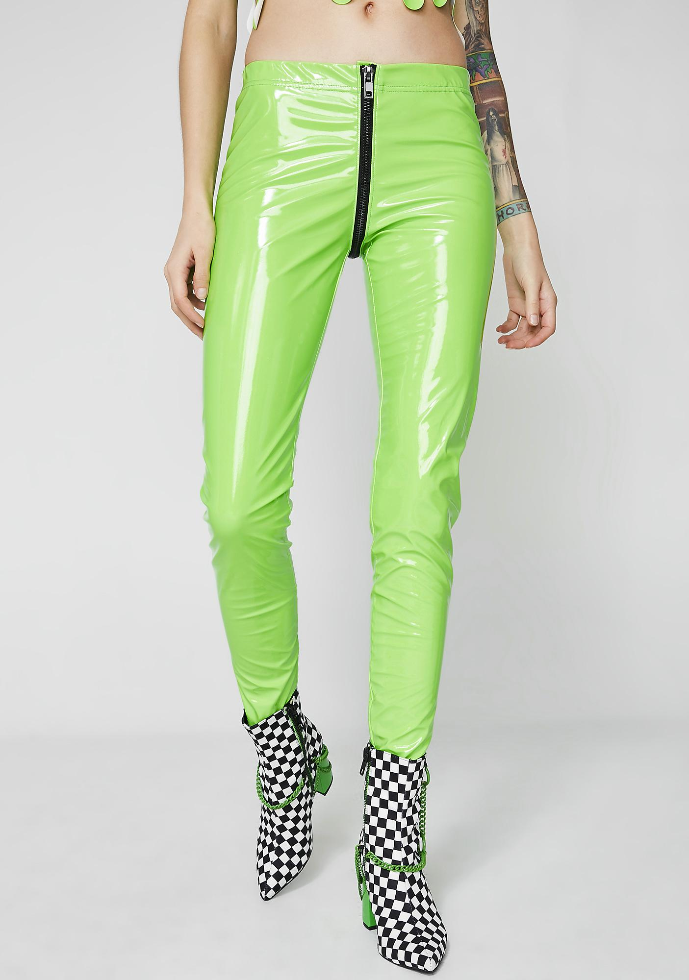 Current Mood Slime Through The Smoke Full Zip Leggings