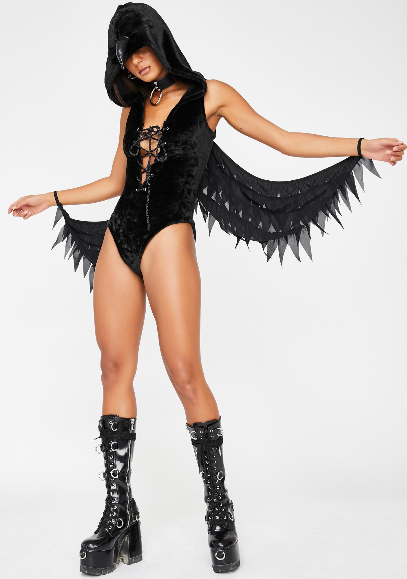 Dolls Kill Watchful Raven Costume Set