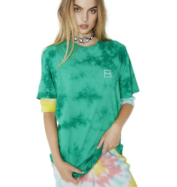 HUF Box Logo Crystal Wash Tee