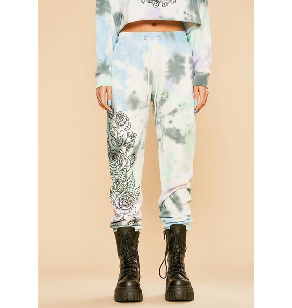 Current Mood Lust For Wonder Tie Dye Sweatpants