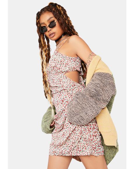Petal Pincher Mini Dress