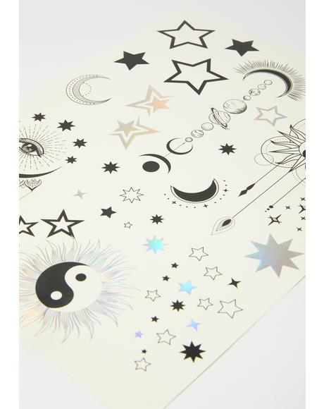 Celestial Dream Temporary Tattoos