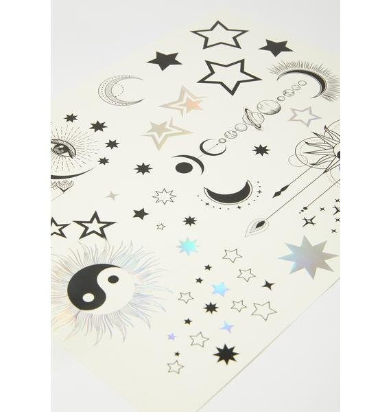 Lunautics Celestial Dream Temporary Tattoos