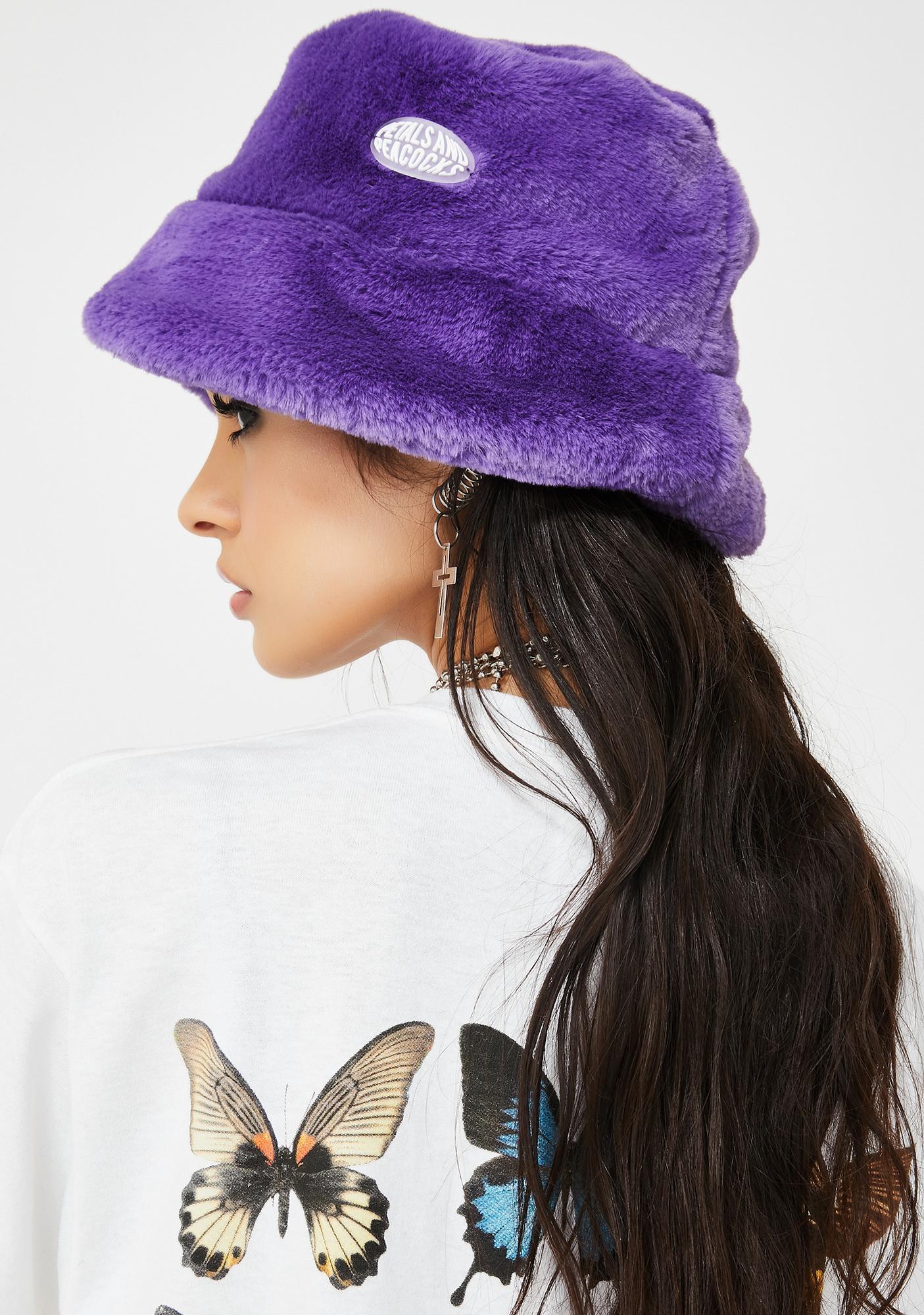Petals and Peacocks Purple Virtual Insanity Bucket Hat