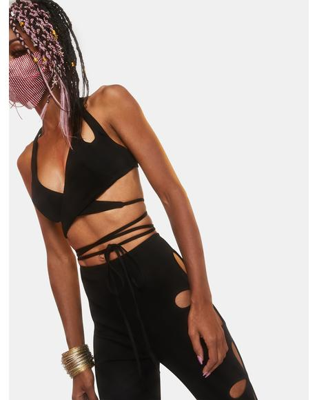 Star Child Cut-Out Wrap Top