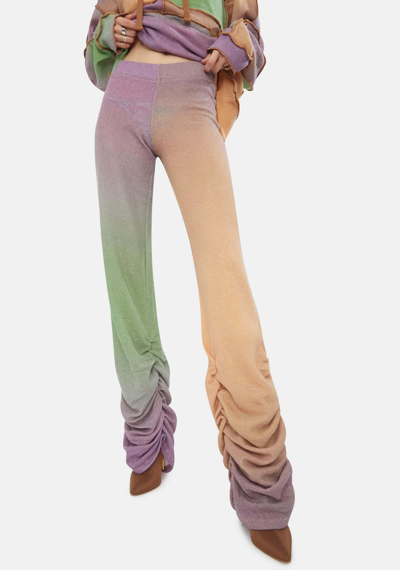 Jaded London Ombre Mix Ruched Hem Knit Joggers