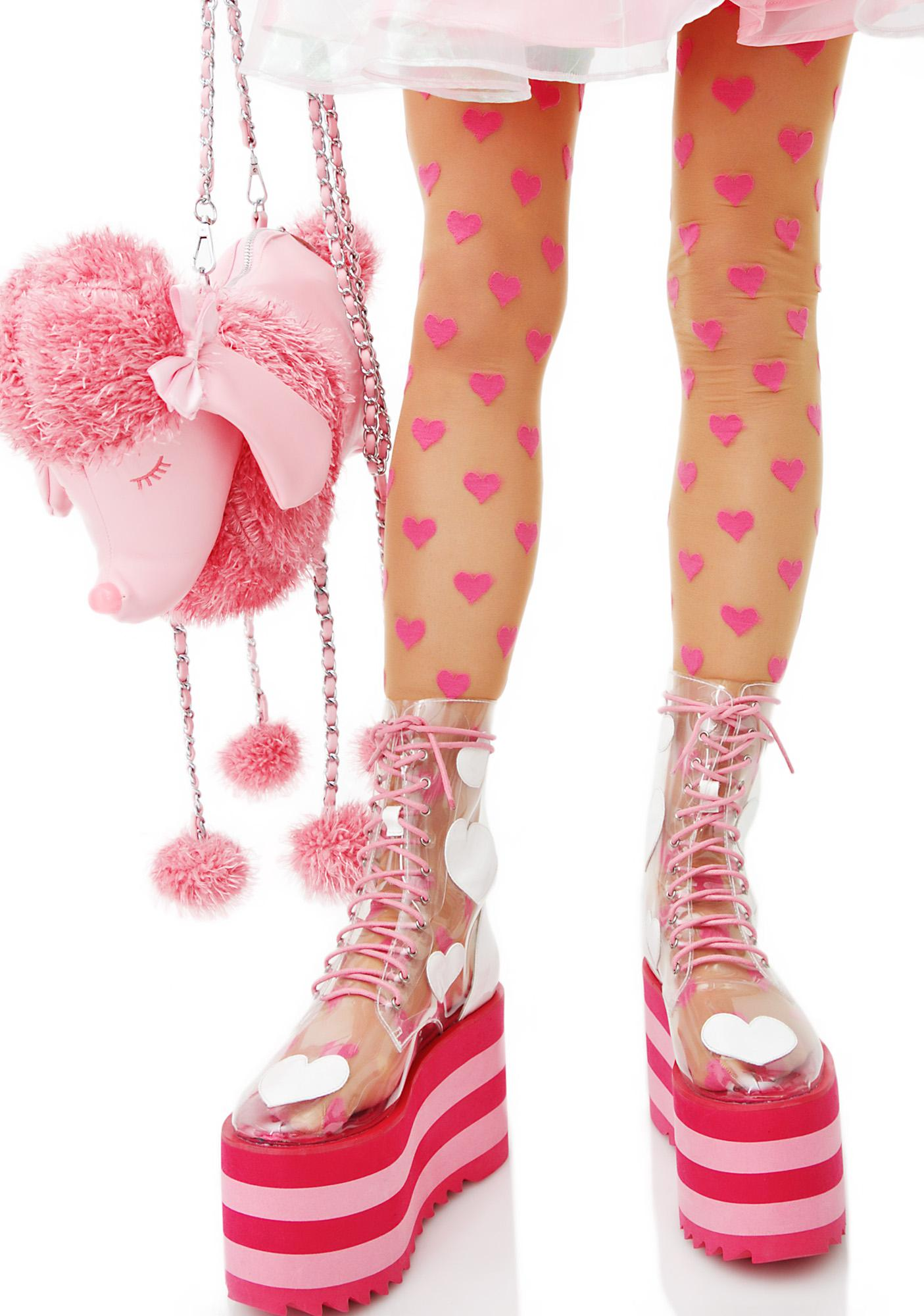 Be Mine Printed Tights