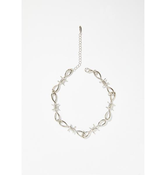 Ain't Perfect Barbed Wire Choker