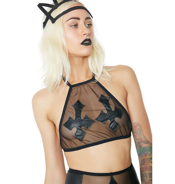 Dolls Kill Bad Religion Lingerie Top