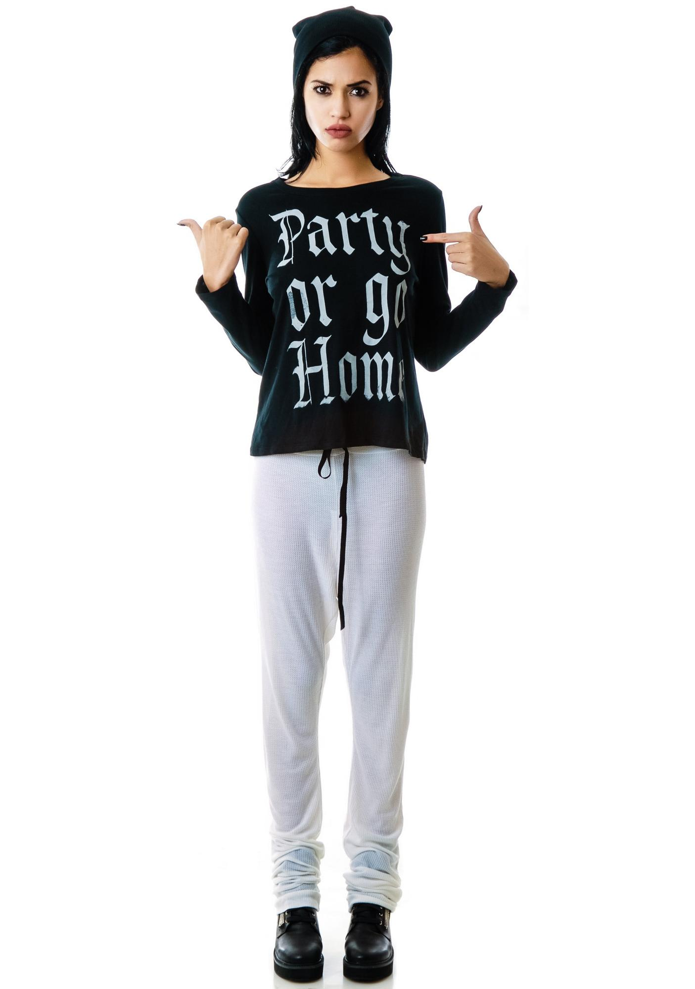 Obesity and Speed Party Or Go Home Long Sleeve Tee