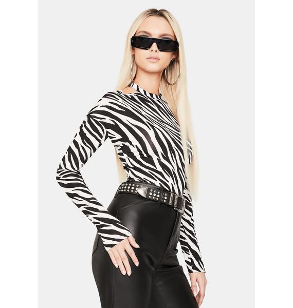 Jungle Jam Long Sleeve Zebra Top