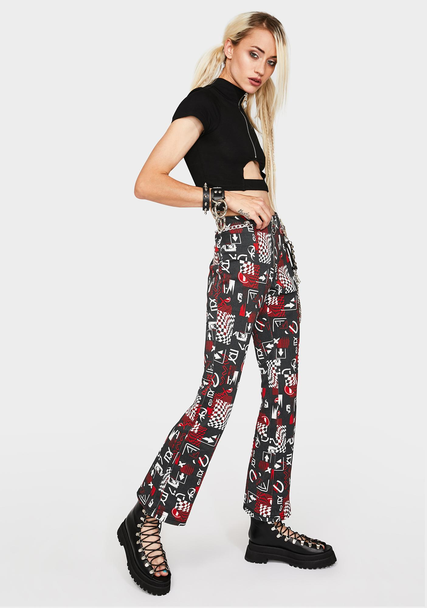 Current Mood Break The Mold Pattern Jeans