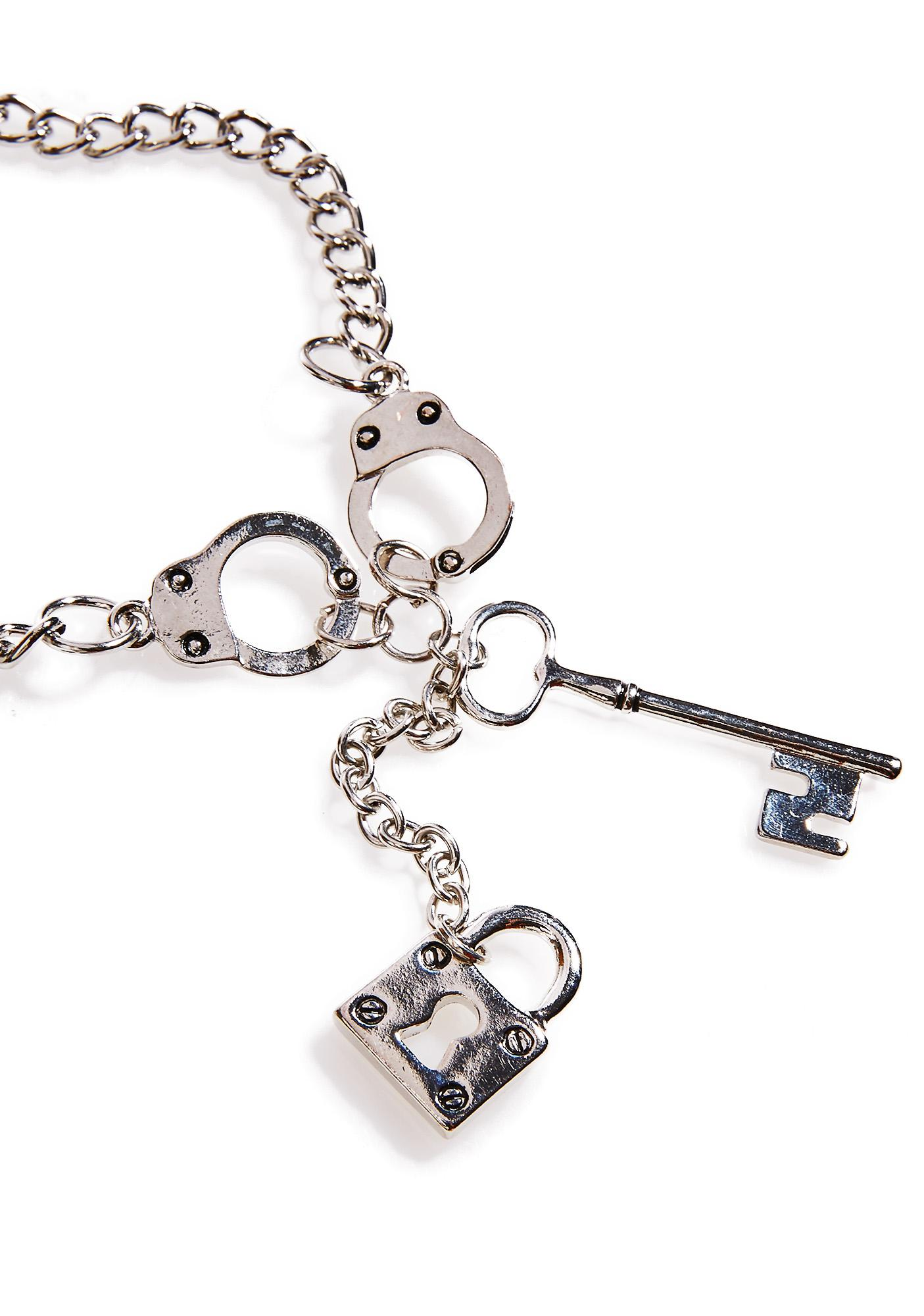 Tethered Lock N Key Necklace