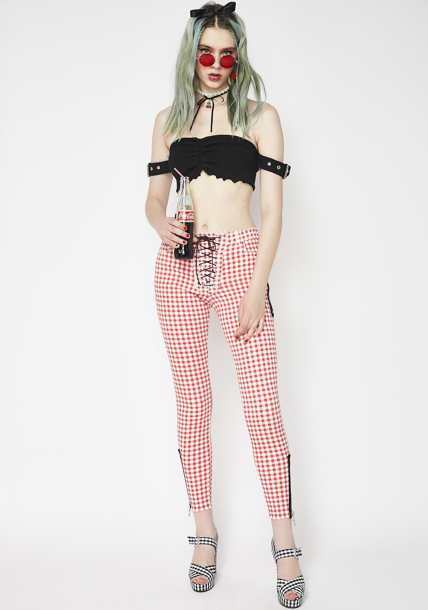 Waiting On You Buckle Crop Top