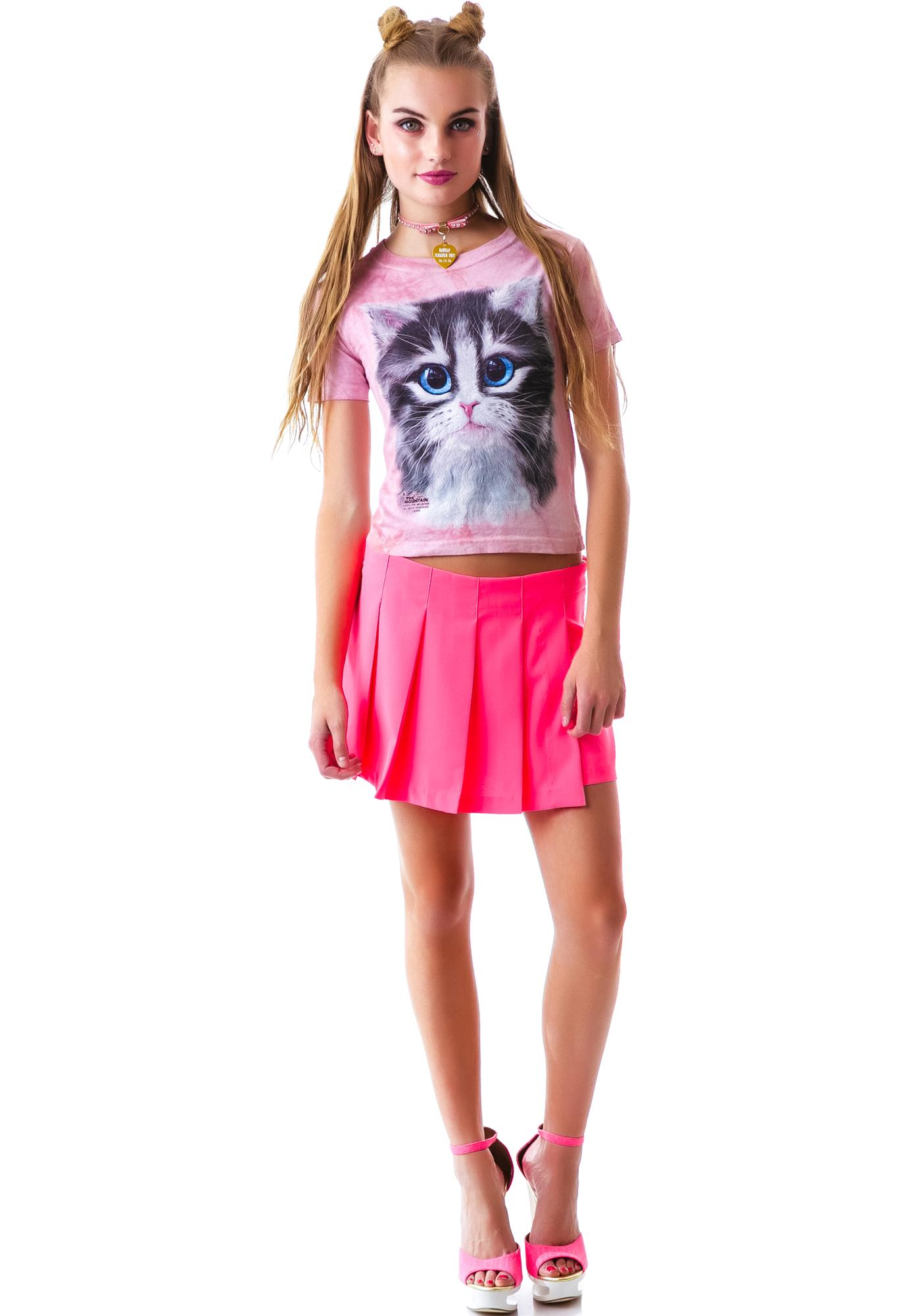 Pretty In Pink Kitten Tee