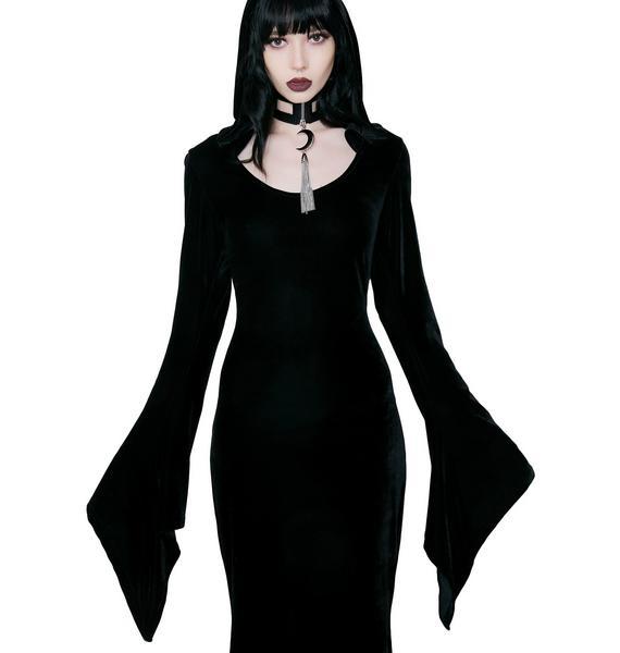 Killstar Hemlock Hooded Maxi Dress