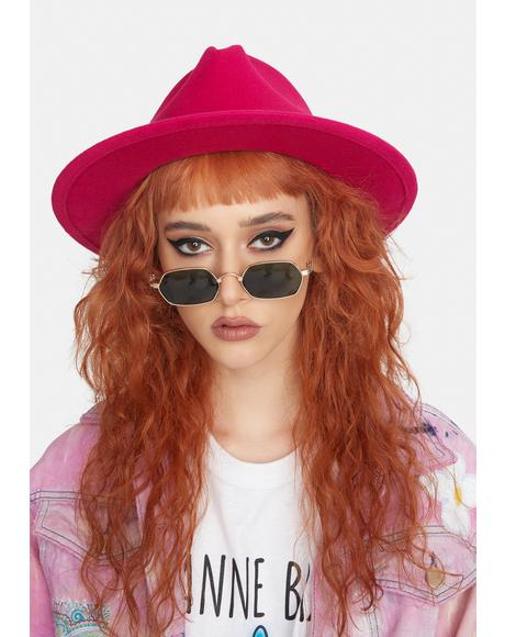 Candy Lose Myself Chain Wide Brim Hat
