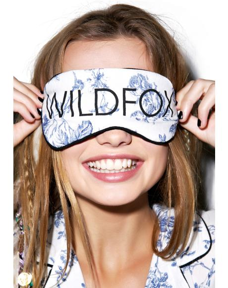 English Toile Eye Mask