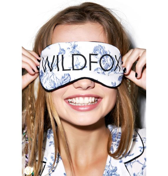 Wildfox Couture English Toile Eye Mask