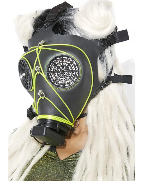 Acid Rain Wasteland Light-Up Mask