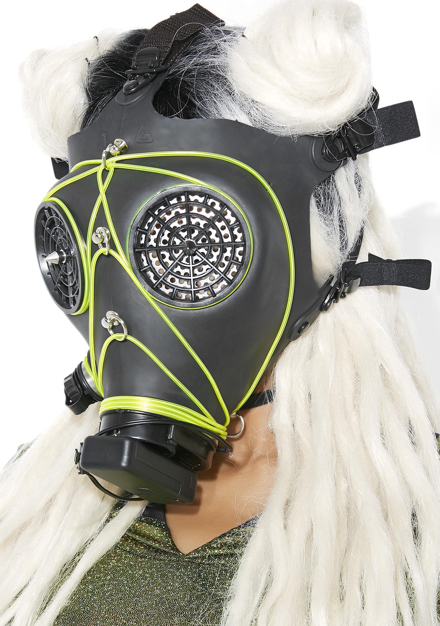 Acid Rain Wasteland Light-Up Mask