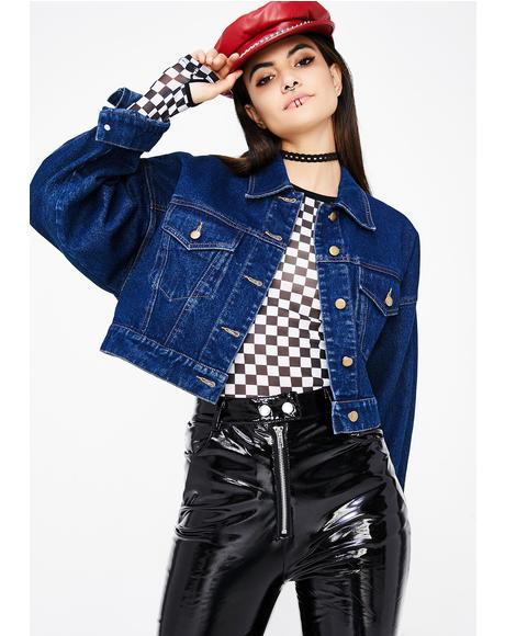 Ain't Yourz Cropped Denim Jacket