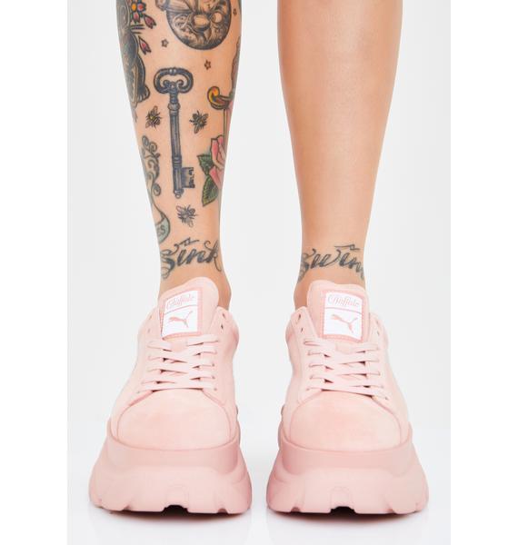 PUMA x Buffalo Rose Suede Classic Platform Sneakers