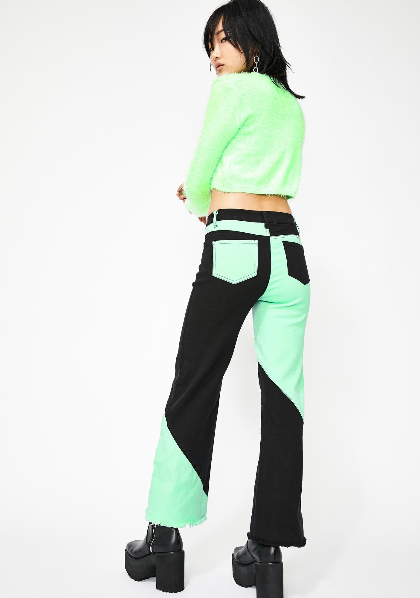 Current Mood Double Agent Colorblock Jeans