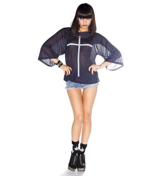 Wildfox Couture Skinny Cross Raglan Tee