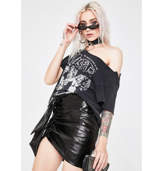 Lioness Black Diamonds In The Sky Mini Skirt