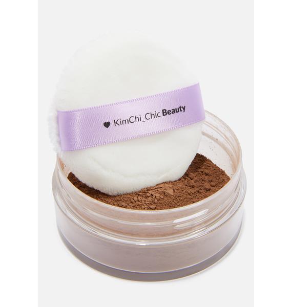 KimChi Chic Beauty Puff Puff Pass Setting Powder in Chocolate
