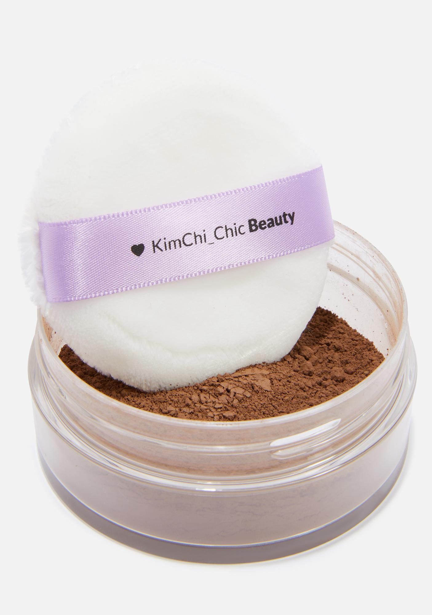 KimChi Chic Beauty Puff Puff Pass Setting Powder in Chocolate