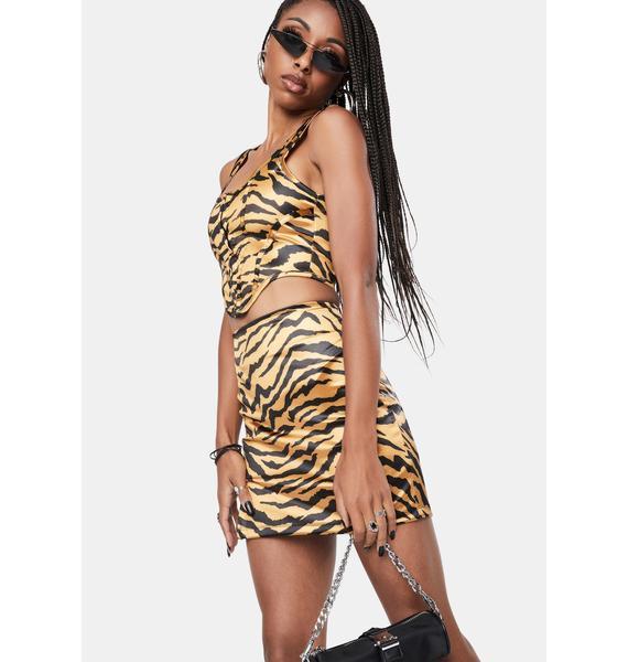 Motel Tiger Gold Elci Corset Top