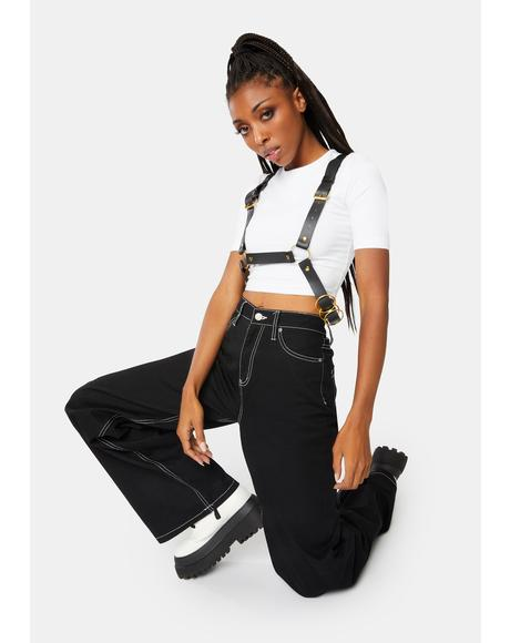 Take Me Now Faux Leather Harness