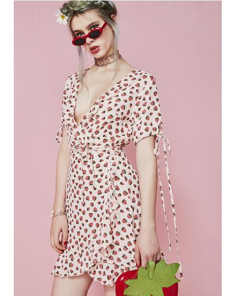 Forbidden Fruit Wrap Dress