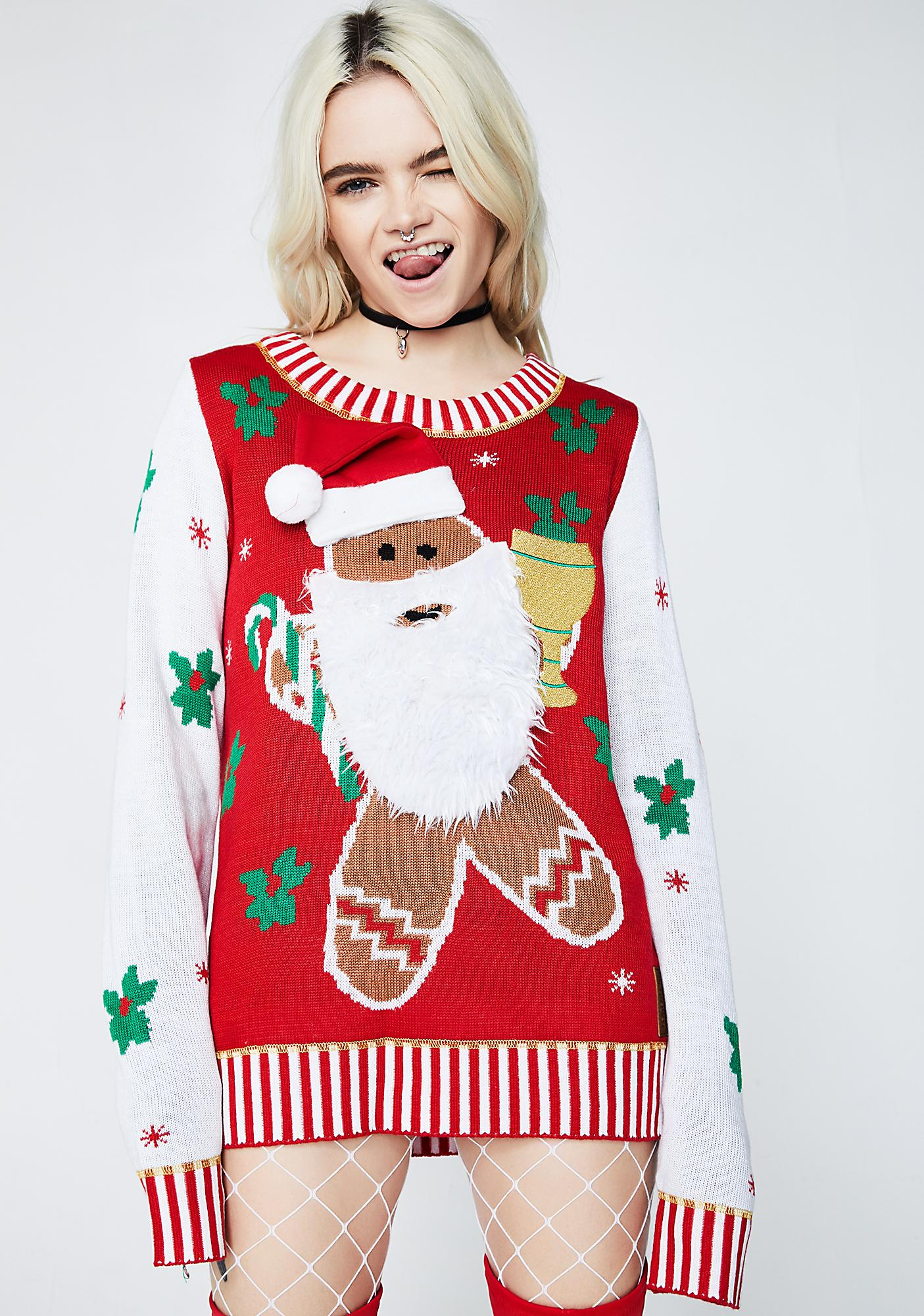 Tipsy Elves Gingerbread Man Sweater