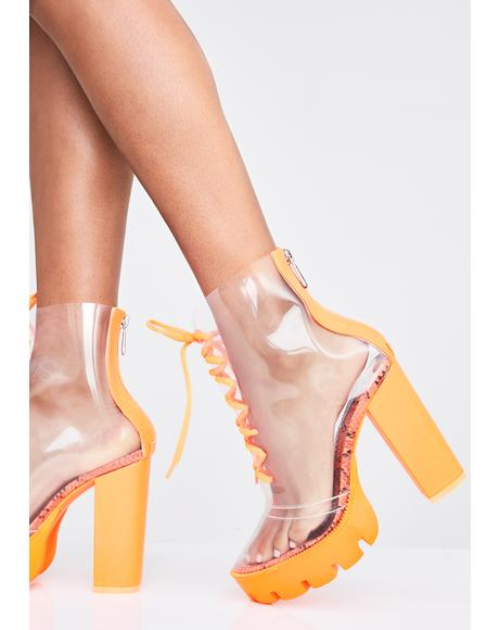 Brooklyn Baddie Clear Boots