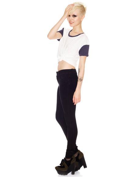 Revolt Knit Black Root Skinny Jeans
