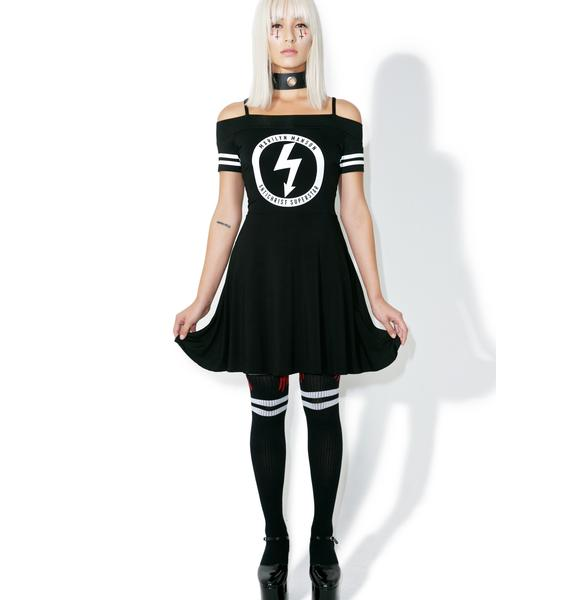 Killstar Gloom Bardot Cheerleader Dress