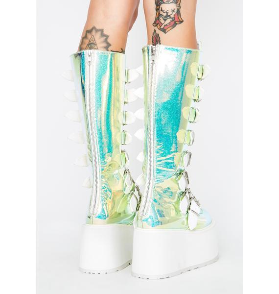 Demonia UV Glitter Morpheus Platform Boots