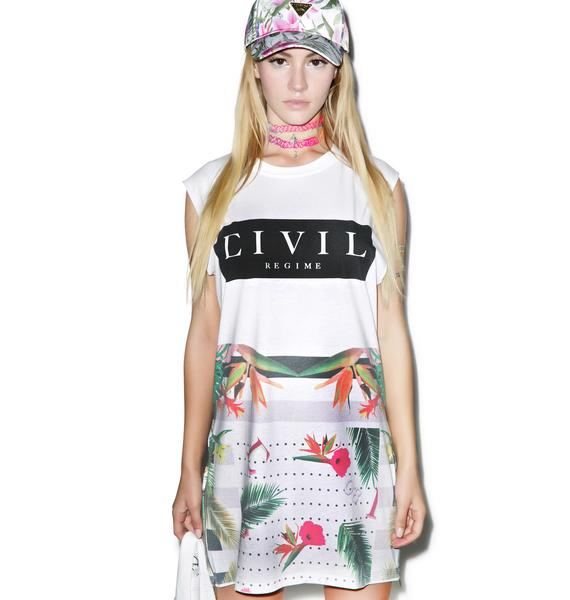 Civil Clothing Civil Block Long Zip Muscle Tee