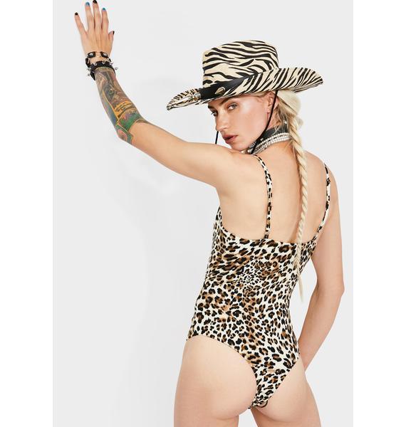 Dream Bandits Australia Leopard  Hearts On Fire Lace Up Bodysuit
