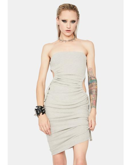 Simply Me Cutout Strapless Dress