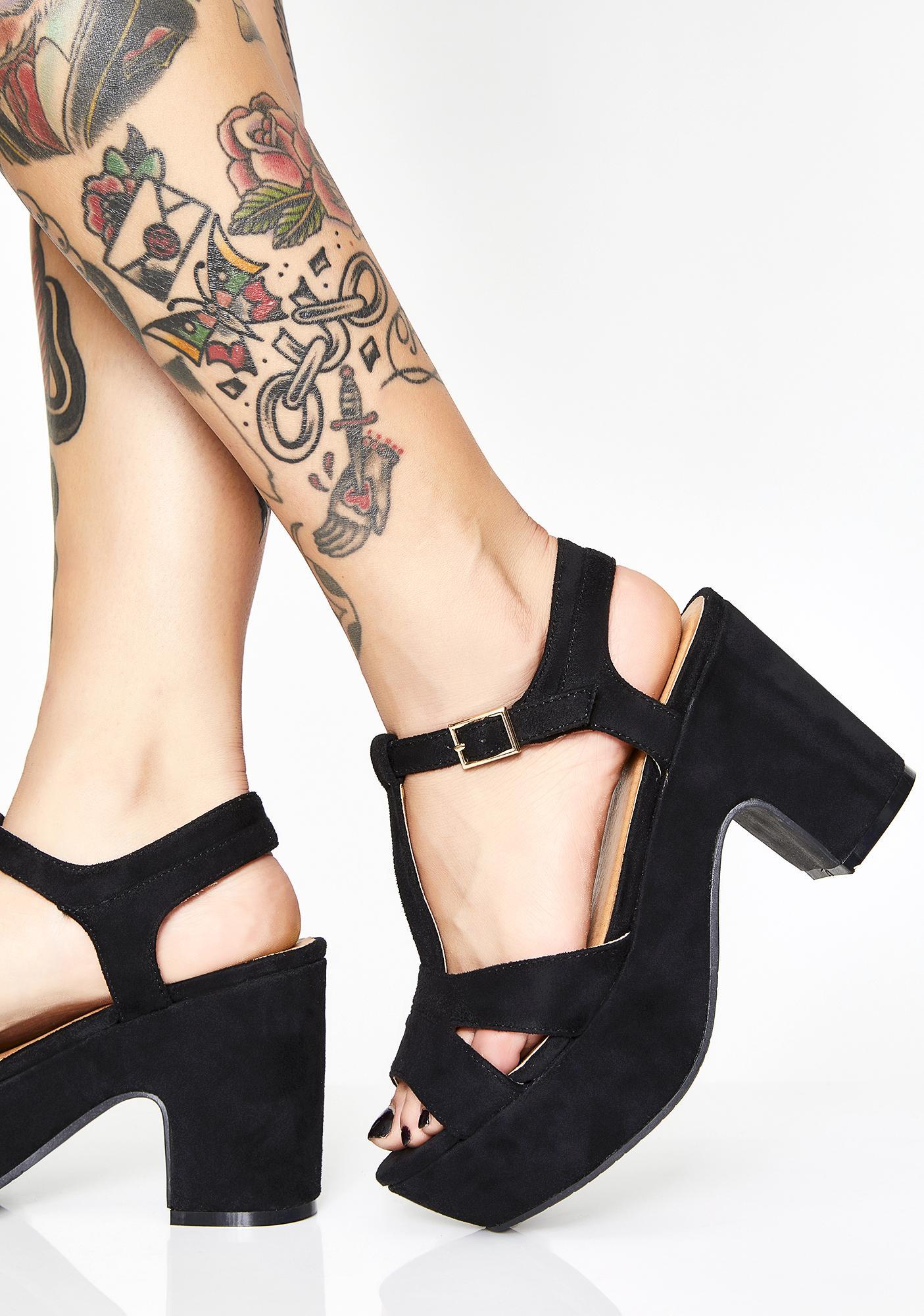 db4d3001121 Black Suede Platform Sandals