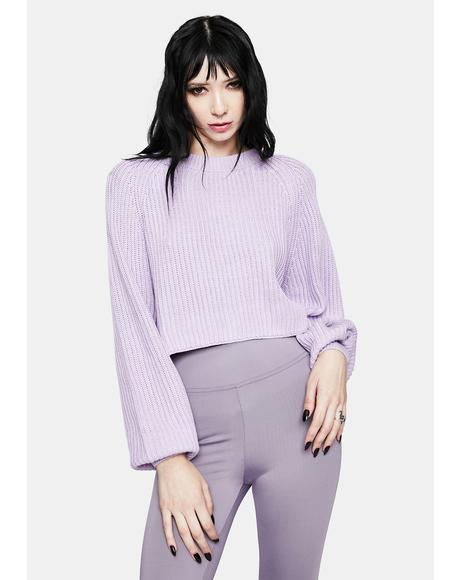 Winter Melody Crop Knit Sweater