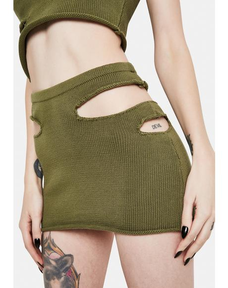 x PCL Cutout Mini Skirt