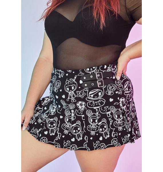 Dolls Kill x tokidoki Spreading Sprinkle Spirit Donutella Pleated Mini Skirt