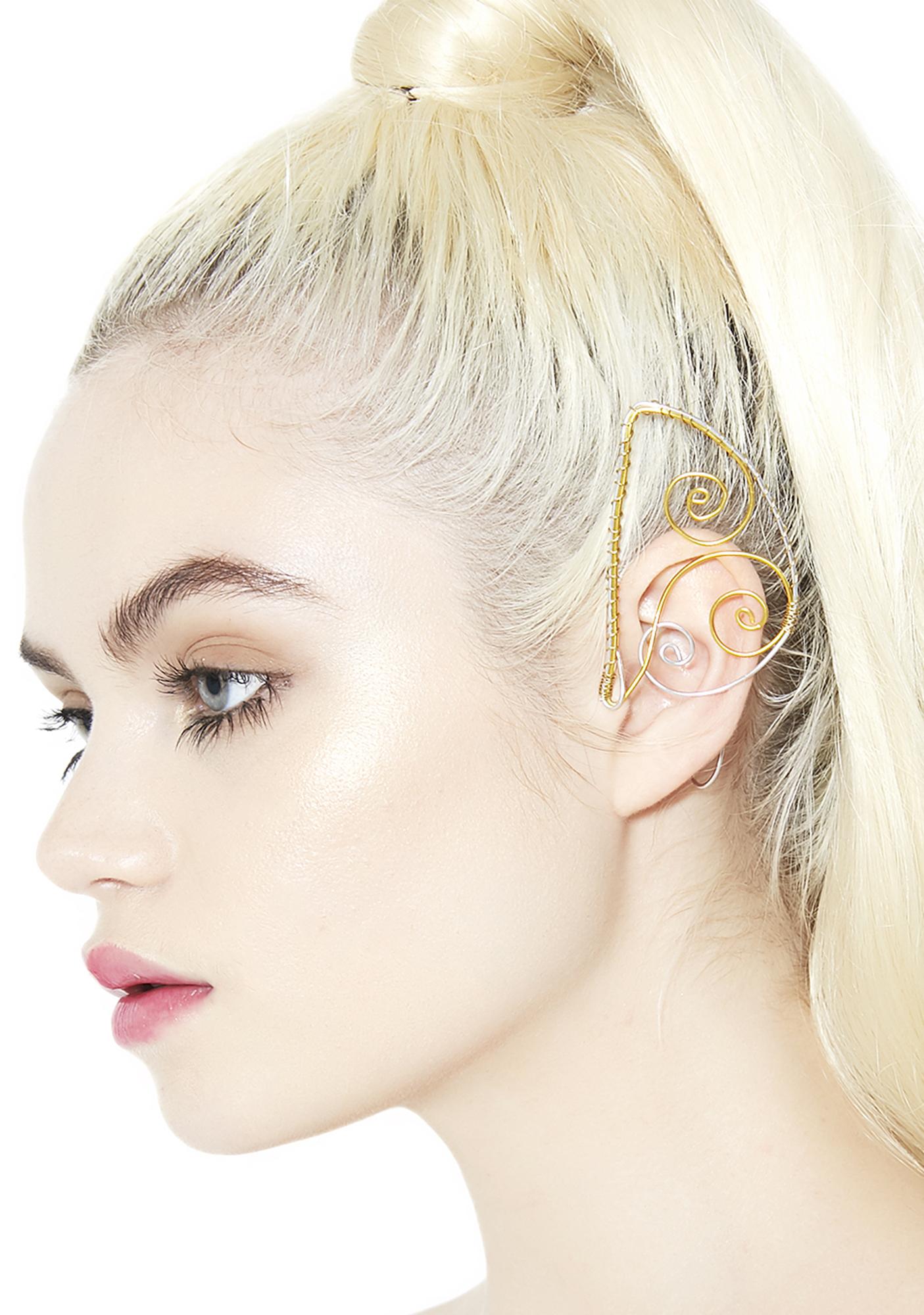 Elf Ear Cuff Set Gold Silver