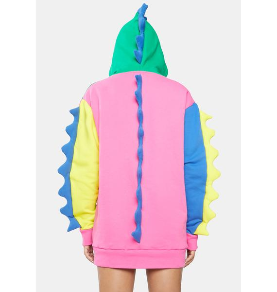 Current Mood Dino Mighty Colorblock Hoodie
